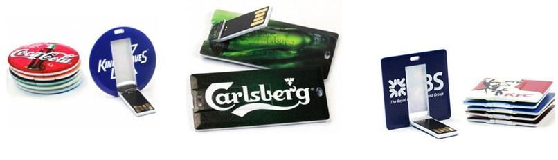 USB credit card met logo bedrukken