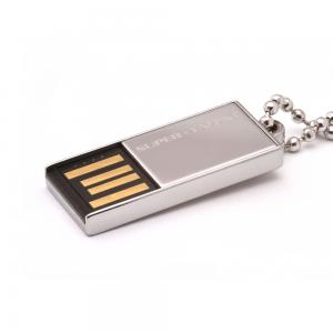 Mini USB stick aluminium met bedrukking